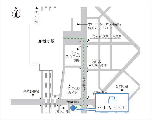 福岡営業所の周辺地図