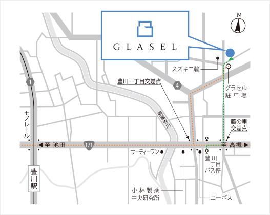 大阪本社の周辺地図