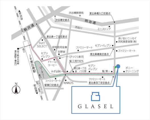 東京支店の周辺地図