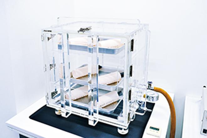 真空装置での液漏れ試験
