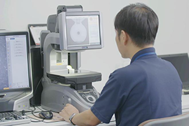画像寸法測定器での測定