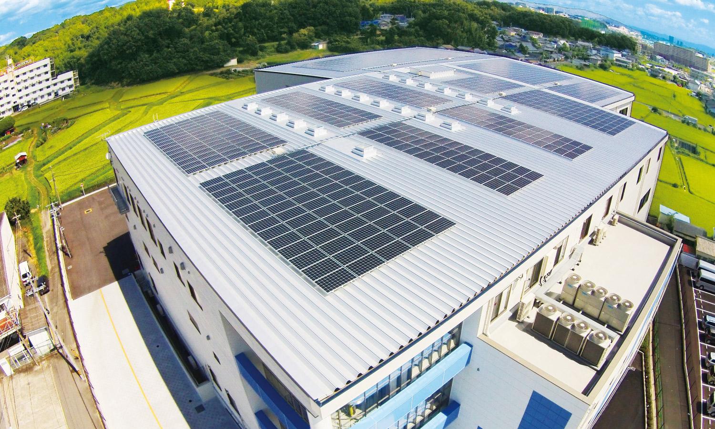 社屋における太陽光発電の導入